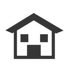 house silhouette isolated icon design vector image