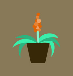 icon in flat design hyacinth vector image