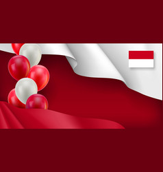 Indonesian patriotic banner with space vector