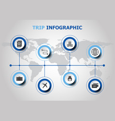 infographic design with trip icons vector image