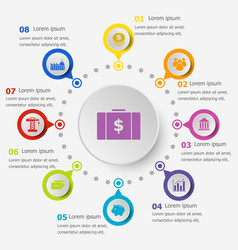 Infographic template with economy icons vector