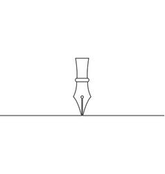 Ink pen draws straight line pen tool vector