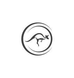 kangaroo jump animal logo and symbols vector image
