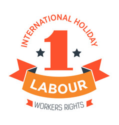 labour day isolated icon workers rights vector image