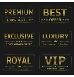 Luxury labels vector image