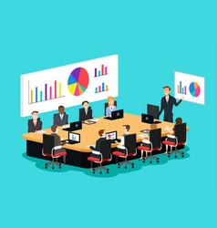 meeting room scene vector image