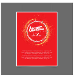 merry christmas glowing red background vector image