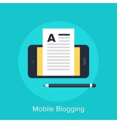 Mobile Blogging vector image