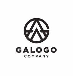 Monogram and initial ag logo design inspiration vector