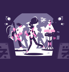 musical band group concert vector image