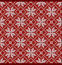 Norwegian sweater with snowflakes winter holiday vector