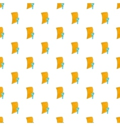 Paper and wrench pattern cartoon style vector