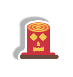 paper sticker halloween icon vector image vector image
