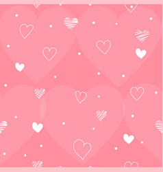 pink seamless pattern valentines day with white vector image