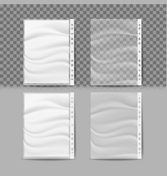 Plastic file a4 size store and protect vector