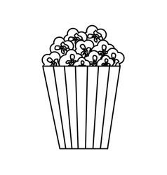 pop corn snack vector image