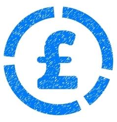 Pound Financial Diagram Grainy Texture Icon vector