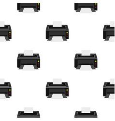 Printer pattern flat vector