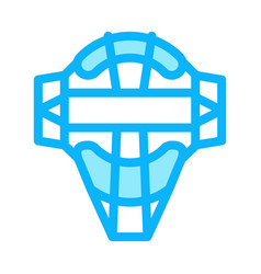 protection mask icon outline vector image