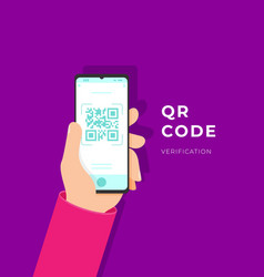 Qr code verification service web vector