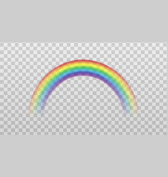 rainbow colorful arch icon sign mockup realistic vector image