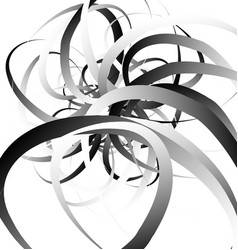 Random squiggly curvy lines abstract monochrome vector