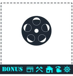 Reel film icon flat vector