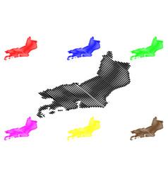 Rio de janeiro state map vector