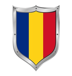 Romania flag button vector image