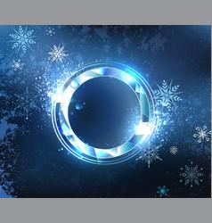 Round frost banner vector