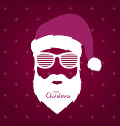 Santa claus with glasses shutter shades vector