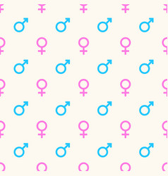 seamless geometric pattern with gender vector image