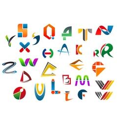 Set alphabet symbols and icons vector