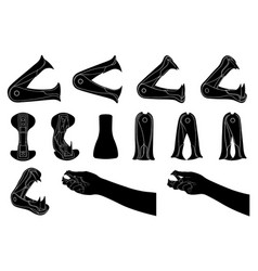 set of different staple removers vector image