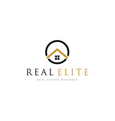 simple real estate properties logo template vector image
