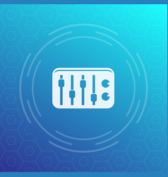 sound mixer icon vector image