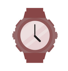 sporty modern wristwatch vector image