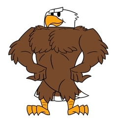 Strong eagle posing vector image