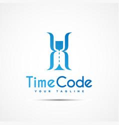 Time code logo vector