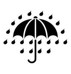 umbrella icon simple black style vector image