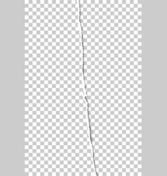 Vertical sheet transparent paper teared vector