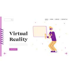 virtual reality simulation hobwebsite landing vector image
