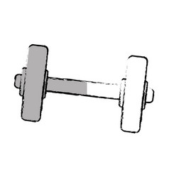weight lifting dumbell icon vector image
