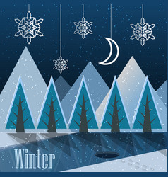 Winter new year postcard vector