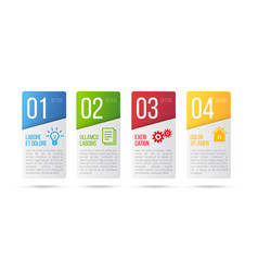 5 steps process infographics card design vector image vector image