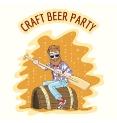 Craft Beer Party vector image