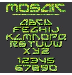 Pixel Mosaic Font vector image
