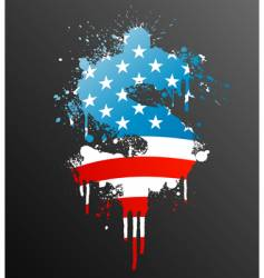 american dollar splatter element vector image