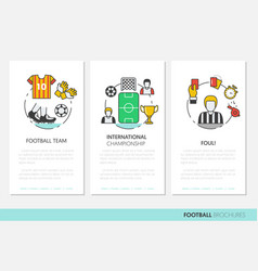 football soccer business brochure linear vector image