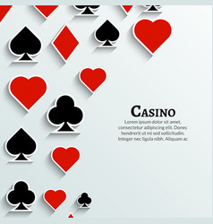 Playing Cards symbol background Casino cards vector image vector image